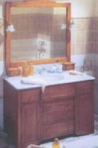 Meuble de salle de bain bois et marbre