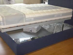 Lit tête de lit en Jeans coffre à literie matelas 140 200 cm