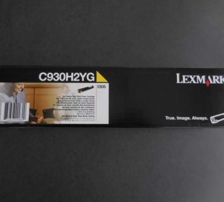 Toner Lexmark C930H2YG Original, Yellow, jaune, 24000 p