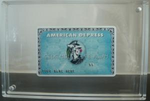 """""""Depress Card"""" œuvre de l'artiste anglais D Face"""