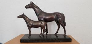 Sculpture en bronze chevaux