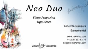 Concert violon&cello NEO/DUO