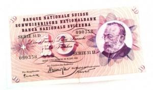Ancien billet de CHF 10.- / 28 mars 1963