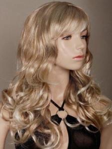 Perruque longue blonde cheveux bouclés