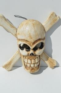Tête de mort pirate à accrocher