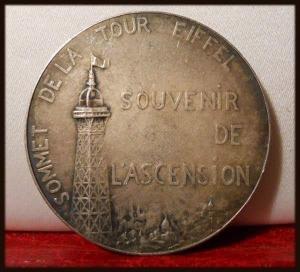 Médaille Sommet de la Tour Eiffel 1900