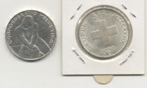 Monnaie de 5.- laupen 1039 argent