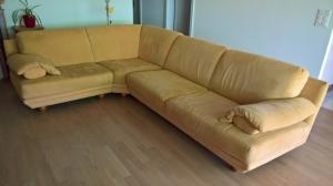 Canapé d'angle micro fibre