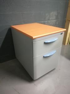 Caisson de bureau hêtre gris petit
