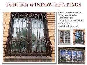Grilles de fenêtre forgées