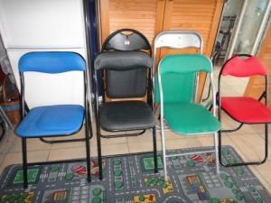 6 chaises pliables en mousse