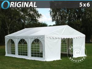 Partyzelt Original 5x6m PVC, Weiß