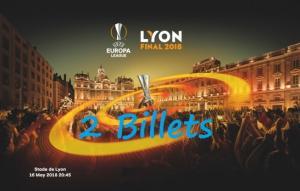 2 billets UEFA Europa League Finale Lyon 2018