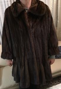 manteau femme en fourrure de Vison - SAM-RONE