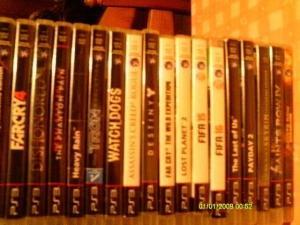 Vends lot de 18 jeux de PS3