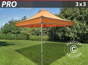 Faltzelt FleXtents PRO Arbeitszelt 3x3m Orange mit Reflek