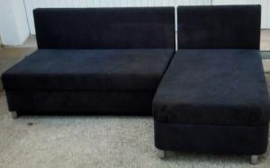Canapés en velours noir