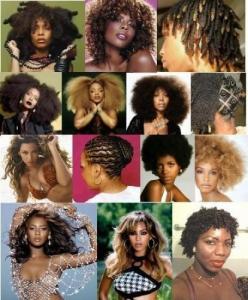 Coiffures afro américaines et autres