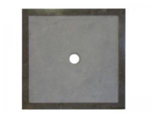 Receveur Ebène en marbre gris foncé