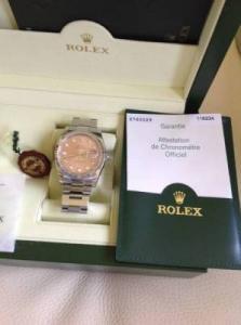 Montre Rolex acier diamants avec boîte et certificat