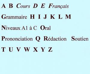Cours de français, aide, adaptés à vos besoins