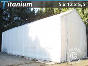 Lagerzelt Titanium 5x12x4,5x5,5m, Weiß