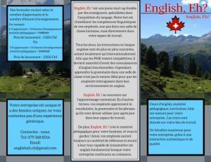 Cours d'anglais à votre lieu de travail
