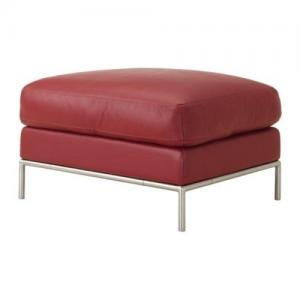 repose-pied /pouf cuir rouge ikea arild