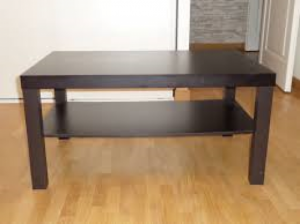 Table basse noire large