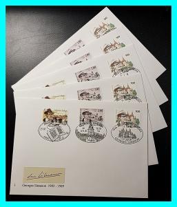 5 enveloppes Simenon