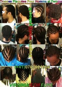 Tresse, tissage, coupes de cheveux