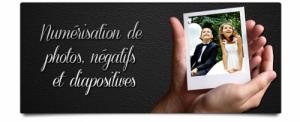 Numérisation de photos, négatifs et diap