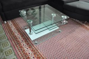 Vends table basse en verre modulable