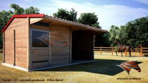 Außenboxen für Pferde, Pferdeboxen, Pferdeställe