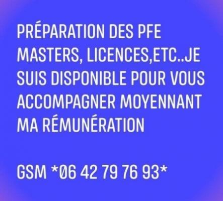 Encadrement Réalisation des PFE masters licences