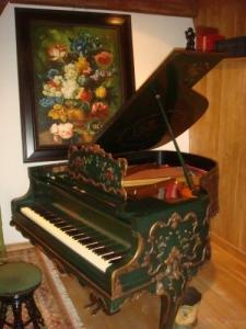 Piano à queue allemand