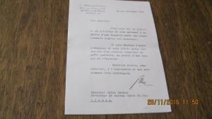 document  pour M. Sandoz