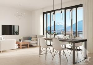 Appt à l'étage de 3.5 pces avec grand balcon/terrasse