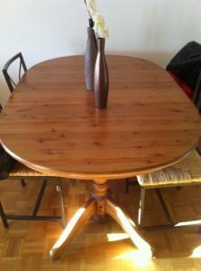 chaises et/ ou table