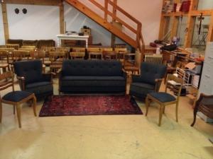 Salon complet, fauteuil, canapé, chaises