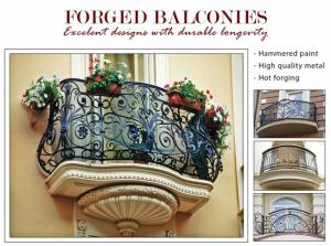 Balcons en fer forgés