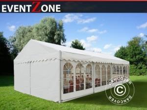 Partyzelt Professional EventZone 6x12 m PVC, Weiß