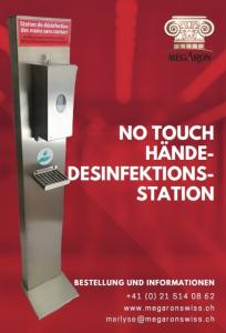 NO TOUCH HAND SANITIZING STATION