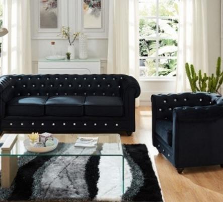 Canapé et fauteuil noir NEUF URGENT