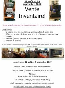 Vente Inventaire hotel