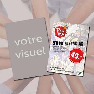 5000 Flyers A6 pour seulement 49.- CHF