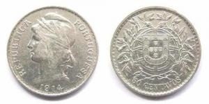 50 Centavos - 1914 Argent