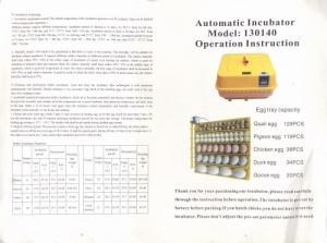 Vend couveuse automatique 130140