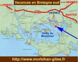 Gîte au bord Golfe Morbihan 4 personnes