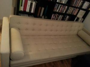 Canapé beige 3 places